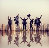 Gens d'affaires de succès de concepts d'entreprise de ville images stock