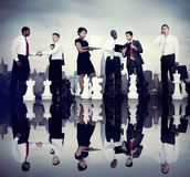 Gens d'affaires de Team Strategy City Concept d'entreprise Photo libre de droits