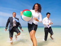 Gens d'affaires de vacances de concept de déplacement de relaxation Photographie stock