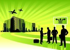 Gens d'affaires de ville Image libre de droits