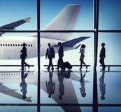 Gens d'affaires de voyage de concept d'entreprise d'aéroport Images libres de droits