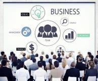 Gens d'affaires divers dans une conférence Image libre de droits