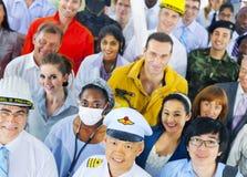Gens d'affaires divers de concept réussi de carrière images libres de droits