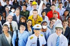 Gens d'affaires divers de concept réussi de carrière image stock