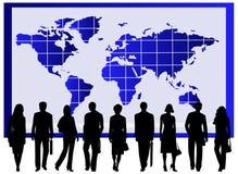 Gens d'affaires et carte Photographie stock