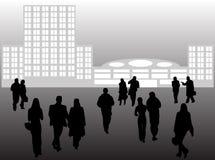 Gens d'affaires et constructions Photographie stock libre de droits