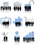 Gens d'affaires et graphismes Photos libres de droits