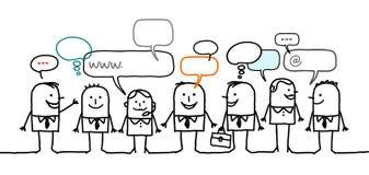 Gens d'affaires et réseau social Image libre de droits