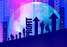 Gens d'affaires et texte Images libres de droits