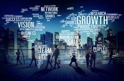 Gens d'affaires globaux de banlieusard de succès de concept de marche de croissance illustration stock