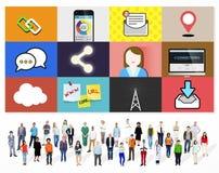 Gens d'affaires globaux de concept d'entreprise du monde Photos stock