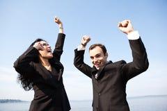 Gens d'affaires heureux photo libre de droits