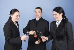 Gens d'affaires heureux de célébration Images stock
