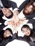 Gens d'affaires joignant leurs mains Image libre de droits