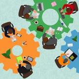 Gens d'affaires, lieu de travail, illustration de vecteur Image stock