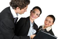 Gens d'affaires lors du contact Images libres de droits