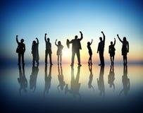 Gens d'affaires réussis et célébration photographie stock libre de droits