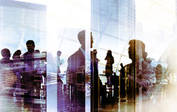 Gens d'affaires rencontrant la discussion Team Concept d'entreprise images libres de droits