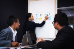 Gens d'affaires rencontrant le bon travail d'équipe dans le bureau Concept réussi de stratégie de lieu de travail de réunion de t photos stock