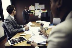 Gens d'affaires rencontrant le concept d'entreprise de travail d'équipe de connexion Photos stock