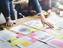 Gens d'affaires rencontrant le concept d'idées de conception photographie stock libre de droits