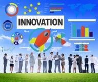 Gens d'affaires rencontrant le concept d'innovation de croissance de créativité Photographie stock libre de droits