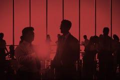 Gens d'affaires rencontrant le concept de communication de discussion Photo libre de droits