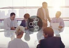 Gens d'affaires rencontrant le concept fonctionnant de travail d'équipe Photos stock