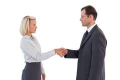 Gens d'affaires sérieux se serrant la main Image libre de droits