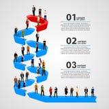 Gens d'affaires se tenant dans la ligne illustration libre de droits