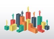 Gens d'affaires se tenant sur la structure Image stock