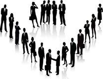 Gens d'affaires - silhouette de vecteur Images libres de droits