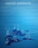 Gens d'affaires social de petit morceau de réseau illustration libre de droits