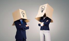 Gens d'affaires utilisant des boîtes Images libres de droits