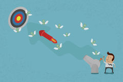Gens d'affaires visant pour une cible élevée Image stock