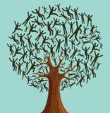 Gens d'isolement d'arbre de diversité illustration de vecteur