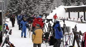 gens de biathlon Photos stock