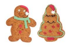 Gens de biscuit de pain d'épice Photo libre de droits