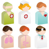 Gens de diversité - soins de santé Photographie stock