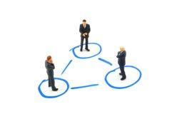 gens de gestion de réseau d'affaires Images stock