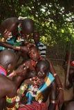 gens de l'Ethiopie Hamer Images libres de droits