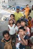 Gens de mendiant de Streetside Image stock