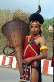 gens de nagaland de cordon de l'Inde photo stock