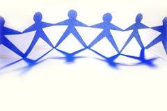 gens de Papier-réseau Image stock