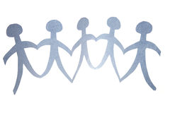 gens de Papier-réseau Photo libre de droits