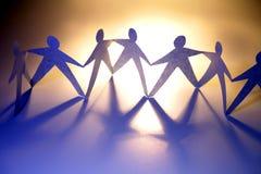 gens de Papier-réseau Image libre de droits
