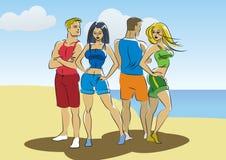 Gens de plage Photo libre de droits