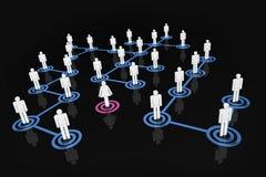 Gens de réseau - le monde de l'homme Image libre de droits