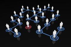 Gens de réseau - restant à l'extérieur illustration libre de droits