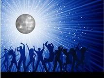 Gens de réception sur le fond de disco Photos stock